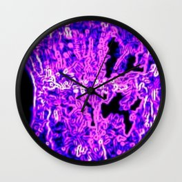 Miss Wood's Lilac Lace Wall Clock