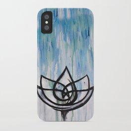 Lotus in the Rain I iPhone Case
