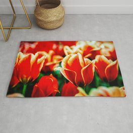 Magnificient Red Tulips Rug
