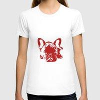 frenchie T-shirts featuring Frenchie by Red Eyes Apparel