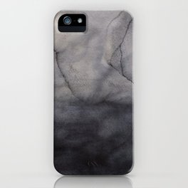 Abstract watercolor #16 - Gray abstraction - Abstract watercolour painting iPhone Case