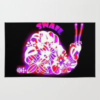 snail Area & Throw Rugs featuring Snail by VirgoSpice