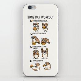 Buns Day Workout iPhone Skin