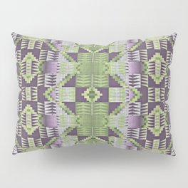 Violet Purple Pink Lime Green Native American Indian Mosaic Pattern Pillow Sham