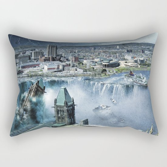 Earth Falls Away Rectangular Pillow