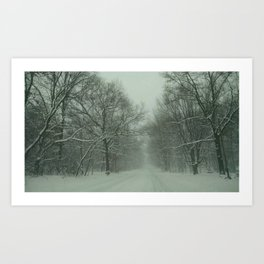 Winter Country Roads Art Print