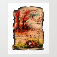 fairy tale Art Prints featuring fairy tale by Elvira Marinevich