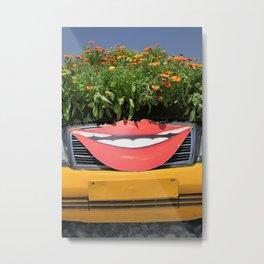 Smiling Car Metal Print