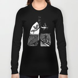 Particle Filtration - Lungs - Respiratory System Long Sleeve T-shirt