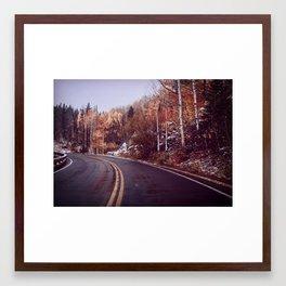 Fall Road Framed Art Print