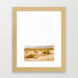 -hot desert- Framed Art Print