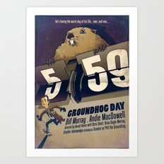 Groundhog Day Art Print