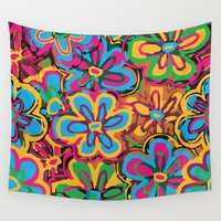 hippie Wall Tapestries featuring Hippie One by Parrish
