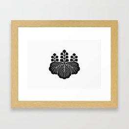 Toyotomi Clan · Black Mon Framed Art Print