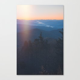 Sunrise in Smoky Mountains National Park Canvas Print