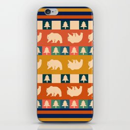 Multicolored bear pattern iPhone Skin