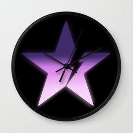 Black star bold Wall Clock