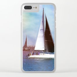 Sail Boats Clear iPhone Case