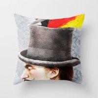 german Throw Pillows featuring German by Francesca Cosanti