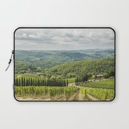 Vineyards landscapes in the morning in Chianti Laptop Sleeve