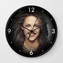 Kristen Stewart - Celebrity - Oil Paint Art Wall Clock