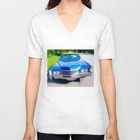 coachella V-neck T-shirts featuring 1970 Cadillac Eldorado by Bruce Stanfield