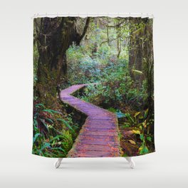 Rainforoest Trail, Vancouver Island BC Shower Curtain