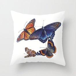 North American Butterflies Throw Pillow
