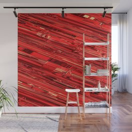 Speed Demon / Abstract 3D render of glass and metal Wall Mural