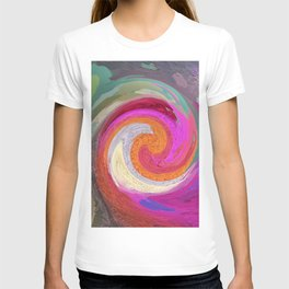 399 - Abstract Colour Design T-shirt