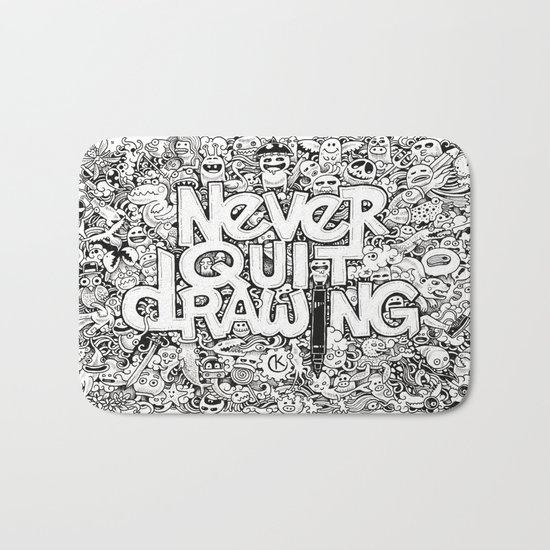 Never Quit Drawing Bath Mat