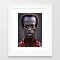 miles davis Framed Art Prints featuring Celebrity Sunday ~ Miles Dewey Davis by rob art   illustration