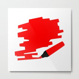 Red Marker Copy Space Metal Print