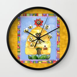 Busy Bees with Border Wall Clock