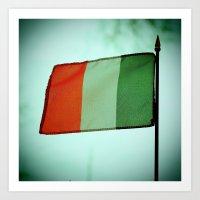 irish Art Prints featuring Irish tricolor by Vorona Photography