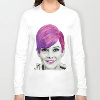 audrey Long Sleeve T-shirts featuring Audrey  by MaarjaPB
