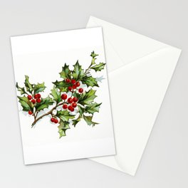 Holly Berries 20171001 by JAMFoto Stationery Cards
