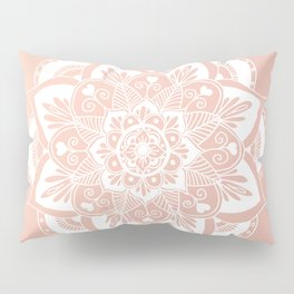 Flower Mandala on Rose Gold Pillow Sham