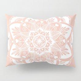 Flower Mandala on Rose Gold Pillow Sham