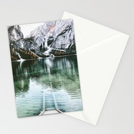 braies lake Stationery Cards