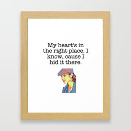 Carrie Fisher Heart Quote Framed Art Print
