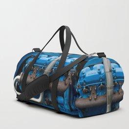 Blue Tractor Motor Duffle Bag