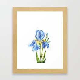 Blue Flower Iris #society6 #decor #buyart Framed Art Print