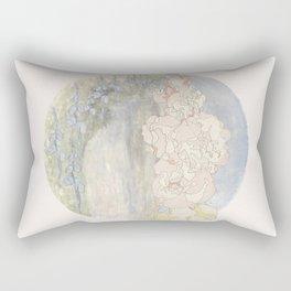 Bluebells and Hollyhocks girdle the earth Rectangular Pillow
