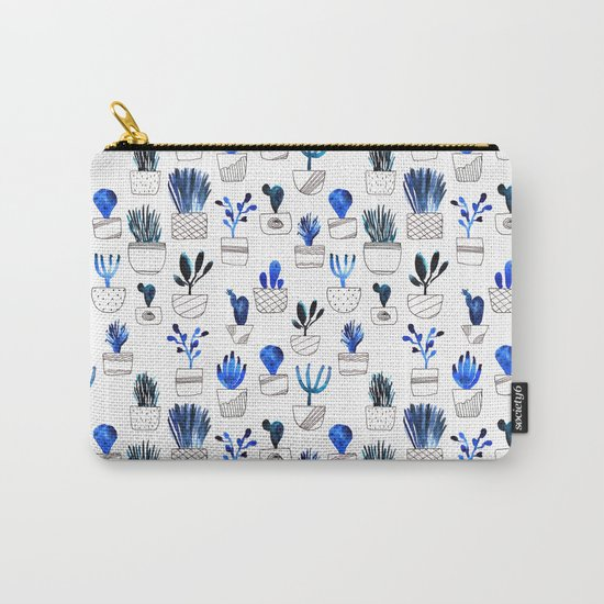 Blue cacti Carry-All Pouch