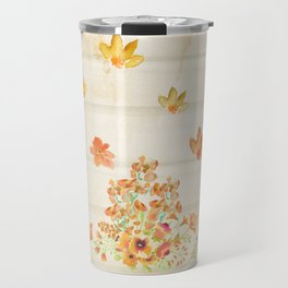 Autumn Flowers in Watercolor Travel Mug