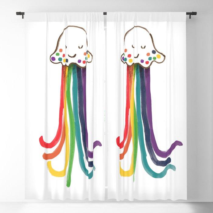 Rainbow Jellyfish Blackout Curtain