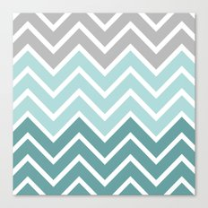 THIN BLUE FADE CHEVRON Canvas Print