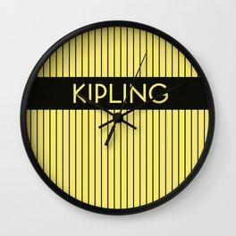 KIPLING   Subway Station Wall Clock