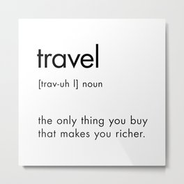 Travel Definition Metal Print